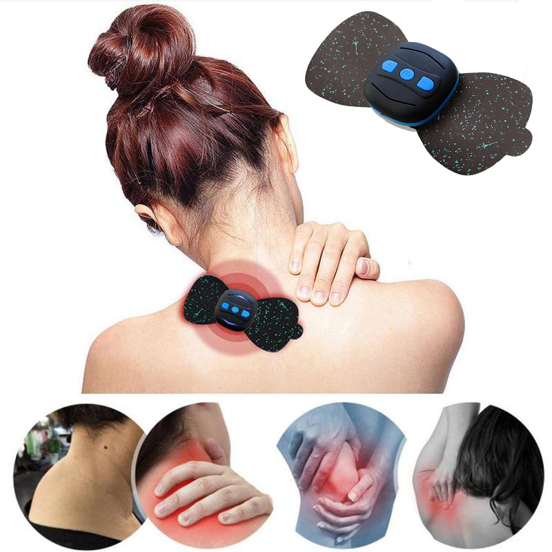 Mini Neck Cervical Vertebra Massager Electric Low Frequency Current Pulse Massager For Shoulder Body Waist Arm Legs Relaxation