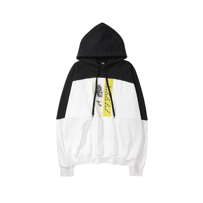 VIISHOW Brand 2019 autumn mens Hoodies cotton high quality Hoodies stitching print Hoodie men Sweatshirt Hoodies WD1855193 in Hoodies amp Sweatshirts from Men 39 s Clothing