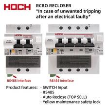 Hoch ZJSB9-80Z automático reclosing interruptor de rebraço com função rs485 controle remoto rcbo fábrica frete grátis