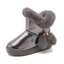 2020 hechos a mano nuevos impermeable niñas botas de piel de invierno de algodón cálido niños botas de nieve para niñas marca de pelo de conejo, de los zapatos de los niños