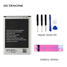 DCTENONE Phone Battery B500BE B500AE For Samsung GALAXY S4 Mini I9190 I9192 I9195 I9198 S4Mini Battery 3 pins 1900mAh samsung orginal b500ae b500be battery 1900mah for samsung galaxy s4 mini i9192 i9195 i9190 i9198 j110 i435 i257 b500ae 3 pin