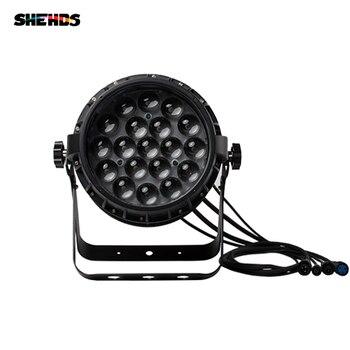SHEHDS na świeżym powietrzu IP67 wodoodporne 19X12W RGBW światło powiększające najlepsze dla basen fontanny wody W stawie ogród akwarium cichy światła