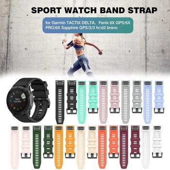 Correa de silicona para relojes Garmin TACTIX DELTA, Fenix 6X PRO, Sapphire GPS, 3/3 Hr y d2 Bravo, correa ajustable para relojes deportivos