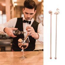 2 Pcs Wear-resistant Stirring Rods Swizzle Sticks Stainless Steel cocktail stirrers
