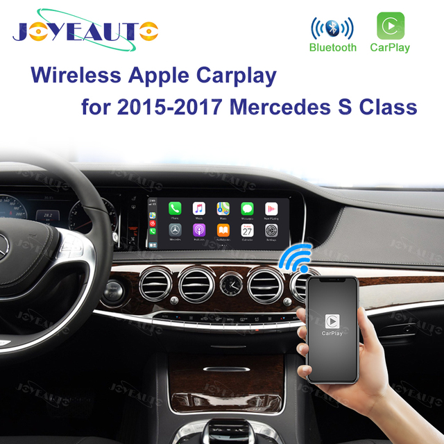 Joyeauto אלחוטי Apple Carplay רכב לשחק Retrofit S Class 15 19 NTG 5 W222 עבור מרצדס אנדרואיד אוטומטי שיקוף אחורי מול CM