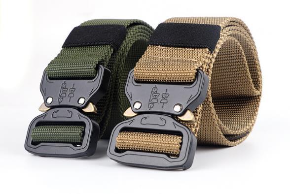 125CM Waist Belt Tactical Nylon Army Military Combat Belts Knock Off Emergency Survival Waist Straps Heavy Duty Belt Hunting