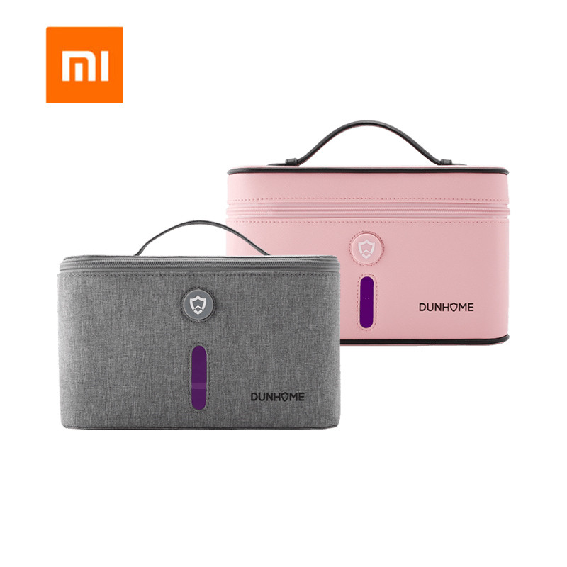Xiaomi Mijia Dunhome 8W Disinfectant Tank Outdoor Travel LED Ultraviolet Light Anion Sterilizer Box Storage Bag Carry Case