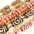 Много узоров 10-12x28-30 мм овальные бусины Dzi agates  10 шт. в нитке  для изготовления ювелирных изделий своими руками  Кулон  Ожерелье