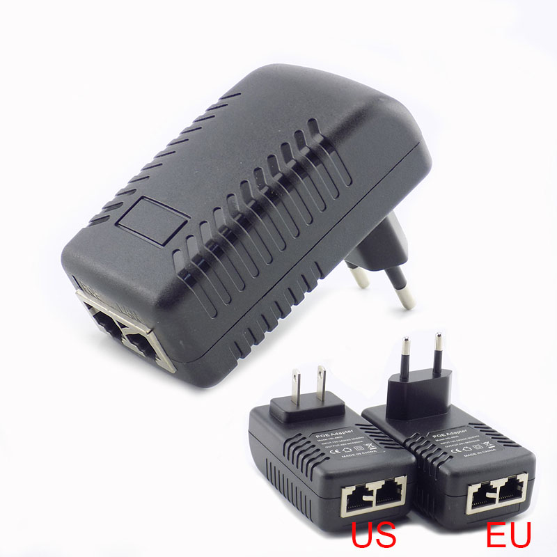 48V 2A AC-DC Adapter Power Supply 100-240V for PoE Switch Injector US Plug NRE