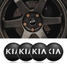 4 pçs metal emblema do carro cubo de roda centro tampa adesivos para kia rio optima sportage ceed alma picanto venga sorento forte espectros