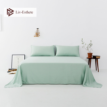 Liv-Esthete Luxury Noble Green 100% Silk Flat Sheet Silk Healthy Queen King Bed Sheets Pillowcase Home Textile Free Shipping