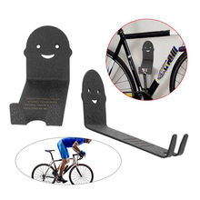 2pc Metal Bike Bicycle Cycling Pedal Wall Mount Storage Hanger Stand Rack Black Multi-Function Hook(China)