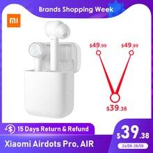 Xiaomi Airdots Pro Mi Air TWS 무선 이어폰 블루투스 헤드셋 ANC Noice 취소 스위치 자동 일시 중지 탭 제어