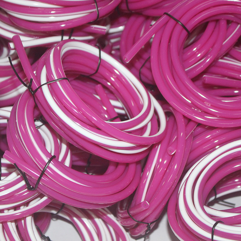 Diameter 5.5 Mm Purple-white Cored Jump Rope PVC Skipping Rope Cored Rubber Rope Support Customization