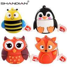 Shandian Hot! Leuke Mini Cartoon Penguin Uil Pen Drive Usb Flash Drive Pendrive 4 Gb/8 Gb/16 Gb/32 Gb Usb Stick