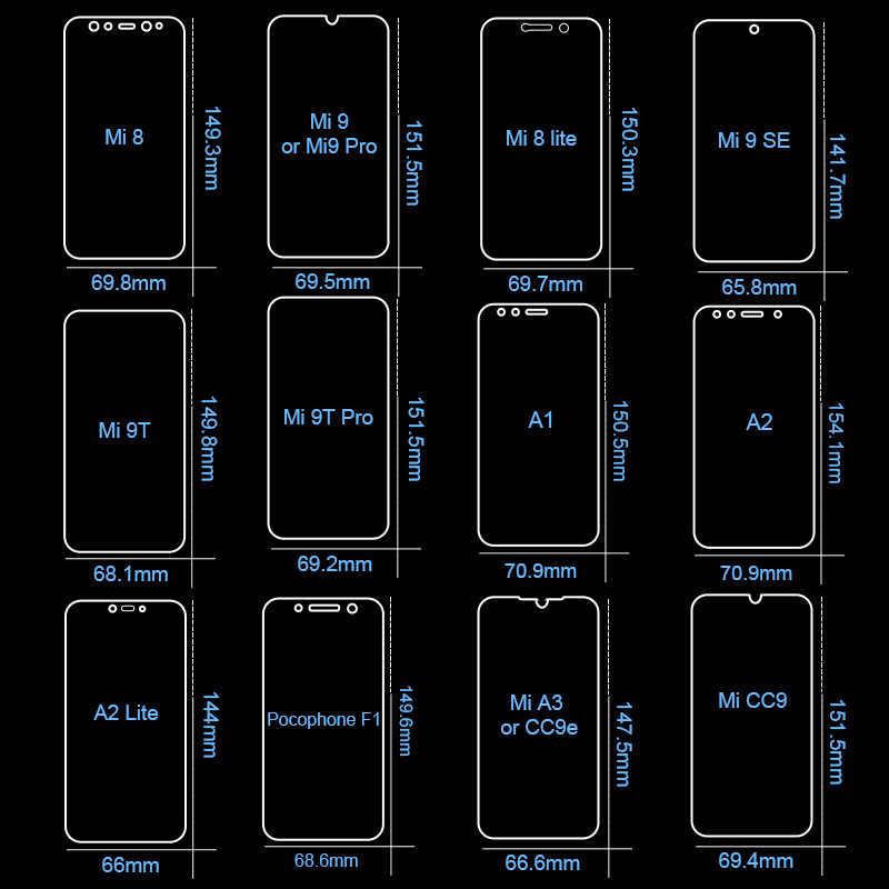 3 قطعة الزجاج المقسى ل شاومي Mi 9T برو 9 SE سلامة الزجاج حامي الشاشة ل شاومي Mi CC9 8 A1 A2 A3 لايت Pocophone F1 الزجاج
