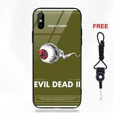 Omdnwd Slim Soft TPU Frame Tempered Glass Case For Apple iPhone 5 5C 5S SE 6 6S 7 8 Plus X XS Max XR Art Evil Dead Book Poster(China)