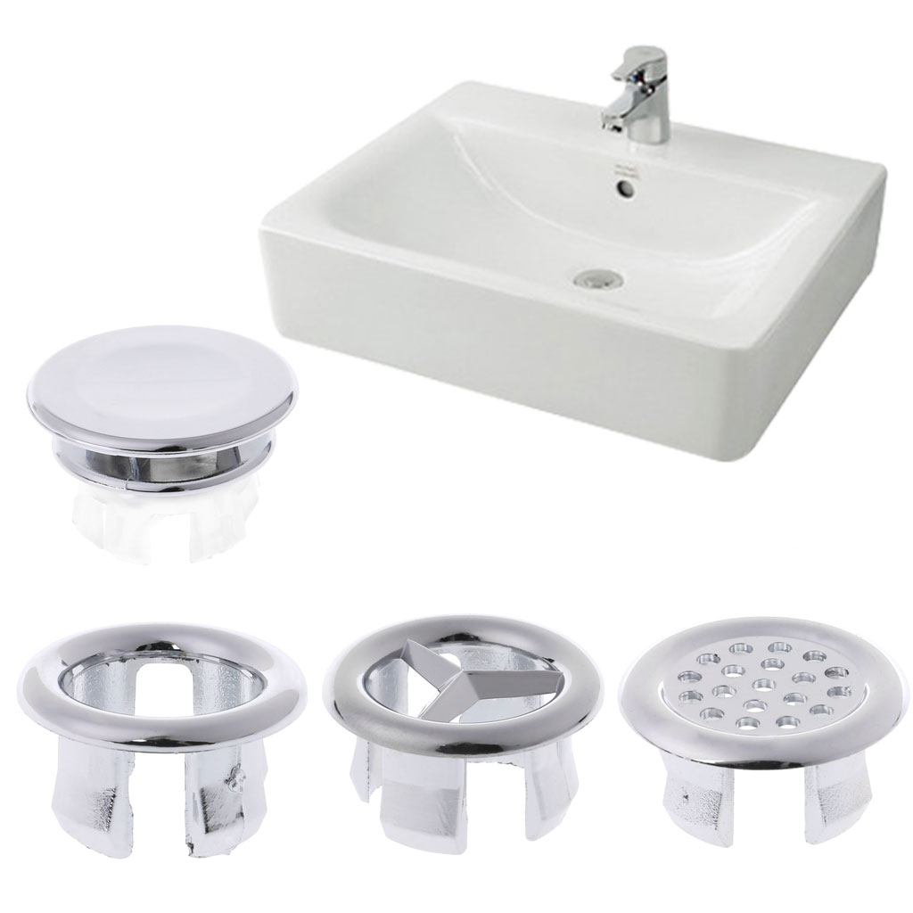 5pcs Basin Sink Round Overflow Cover Rings Insert Replacement Bathroom Accessory1##