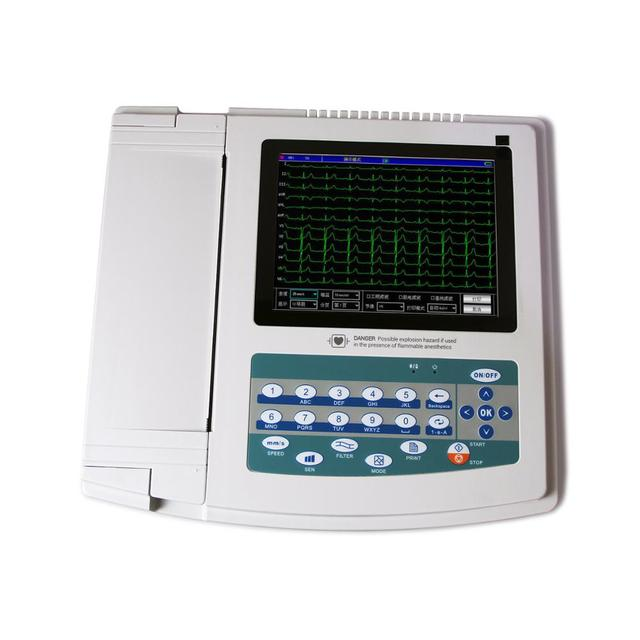Touch Screen Digital 12 Channel ECG Electrocardiograph +Free PC Software,1200G FDA 2