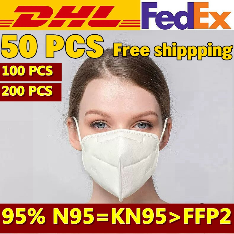 50PCS KN95 95% Filtration Efficiency Mask Free Shipping FAST SHIP CE Certification Face Respirator