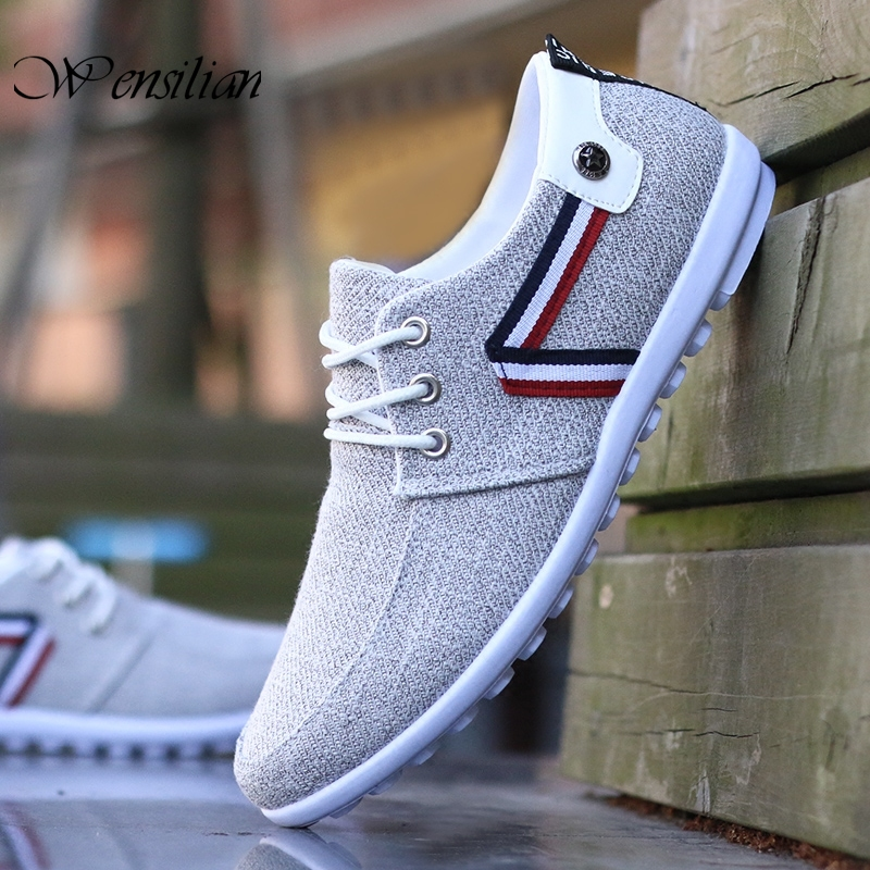 Fashion Sneakers Men's Casual Shoes Breathable Canvas Shoes For Men Trainers Flats Non Leather Casual Shoes Zapatillas Hombre