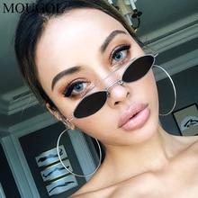 MOUGOL New 90s Sunglasses Women Retro Oval Lady Brand Designer Vintage Black Girls Eyeglasses UV400 Oculos
