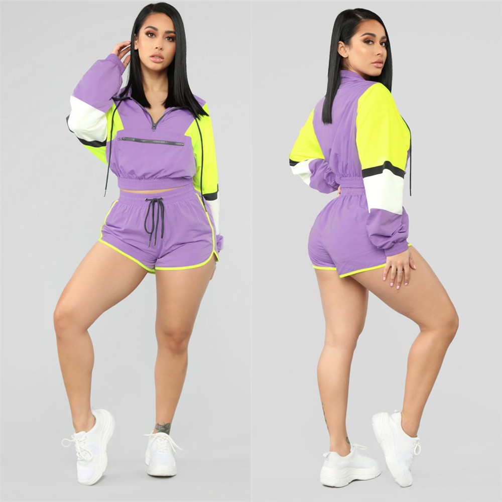LS6255 Foreign Trade Supply Of Goods   Europe And America Hot Selling Fashion Casual Sports Multi-color Hooded T