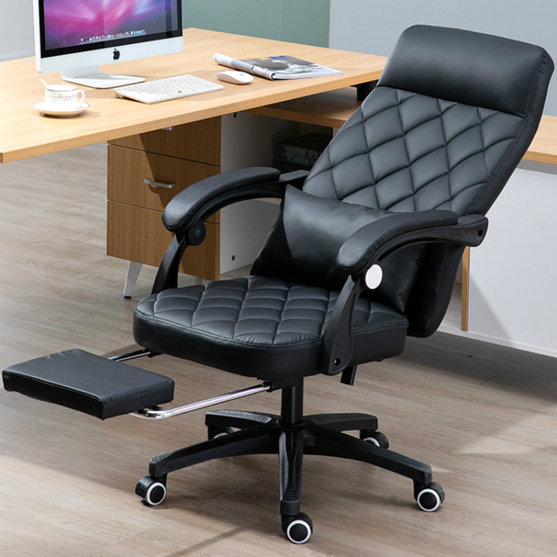 Genuine Leather Office Chair Home Computer Chair Silla Gamer PU Comfortable Swivel Gaming Chair Silla Oficina Cadeira Gamer