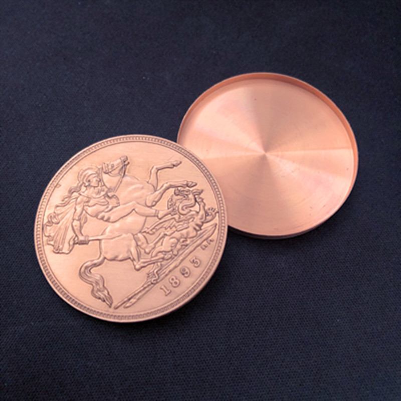 Expanded Shell Queen Victoria Ancient Coin (Tail, Copper) Magic Tricks Magician Accessories Close Up Appear Vanish Coin Magia