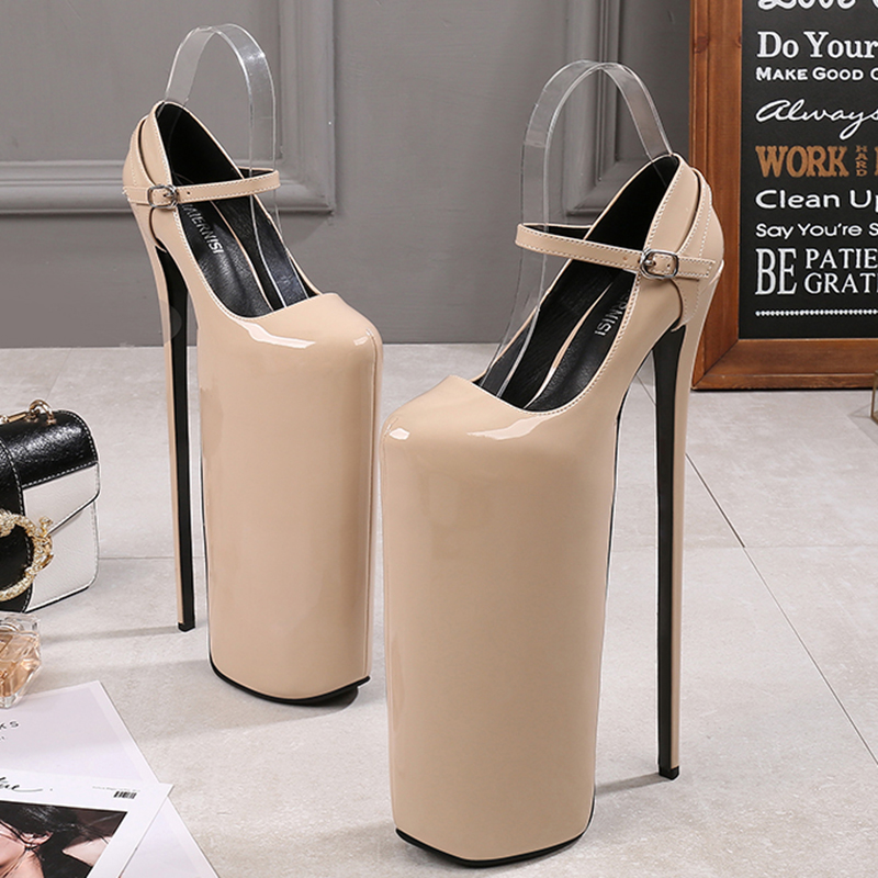 Pole Dance Celebrity Women Shoes Super High <font><b>Heel</b></font> <font><b>30cm</b></font> Platform High <font><b>Heels</b></font> Fast Suction Hand Female Shoes Plus Size image