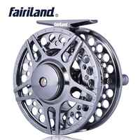 1/2 3/4 5/6 7/8 3BB Fly Fishing Reel High Quality CNC Machined Aluminum Fly Reel w/ INCOMING CLICK L/R Hand-Changed