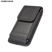 S/M/L Size Telefoon Pouch Voor iPhone Huawei OPPO Xiaomi Samsung Case Belt Clip Holster Leather Cover zakken met Kaarthouder