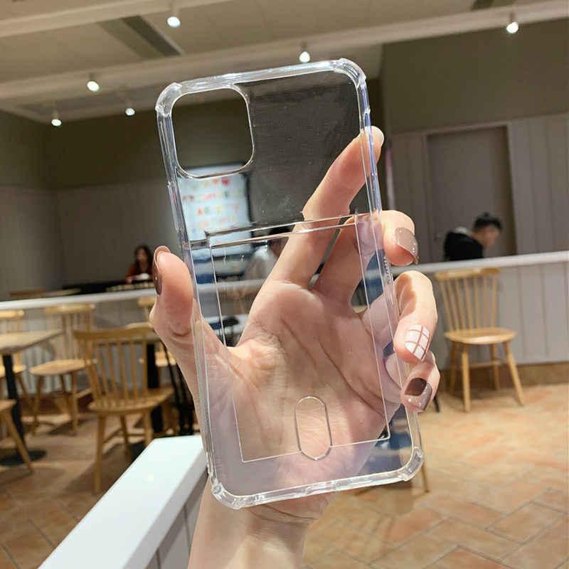 Lovebay Rõ Ràng Túi Khí Chống Sốc Ốp Lưng Điện Thoại Iphone 11 Pro SE 2020 X XR XS Max 8 7 6 S plus Kẹo Loại Thẻ Mềm TPU Bao