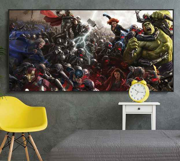 Avengers Poster Movie Canvas Home Decoration Marvel Comics Iron Man Cartoon Painting Art Wall Pictures For Living Room Decor