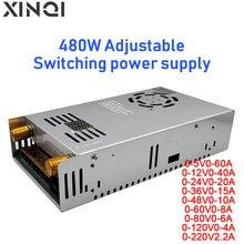 480W digital display current limit adjustable voltage and current  switching power supply 5V 12V 24V 36V 48V 60V 80V 120V 220V