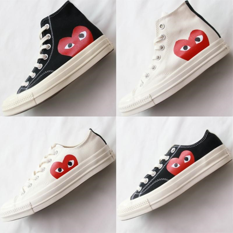 1970s Big Eyes CDG Play Chuck 70 Multi Heart 70s Hi Canvas Shoes Classic 1970 Canvas Shoes Jointly Name Skateboard  Sneakers