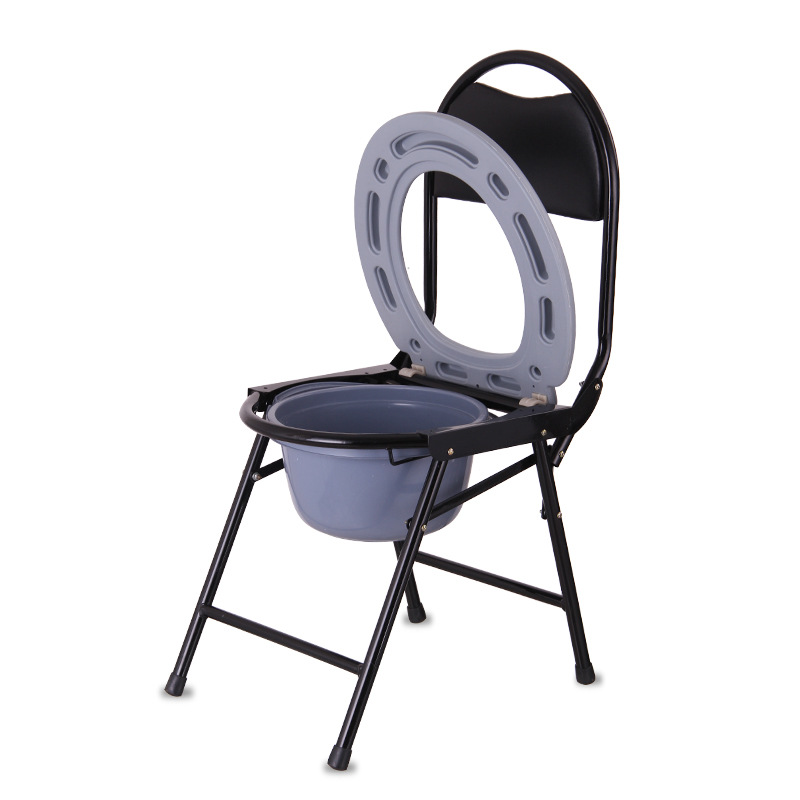 Household Elderly Toilet Chair Potty Chair Pregnant Women Foldable Pedestal Pan Mobile Toilet Stool Chair Commode Chair