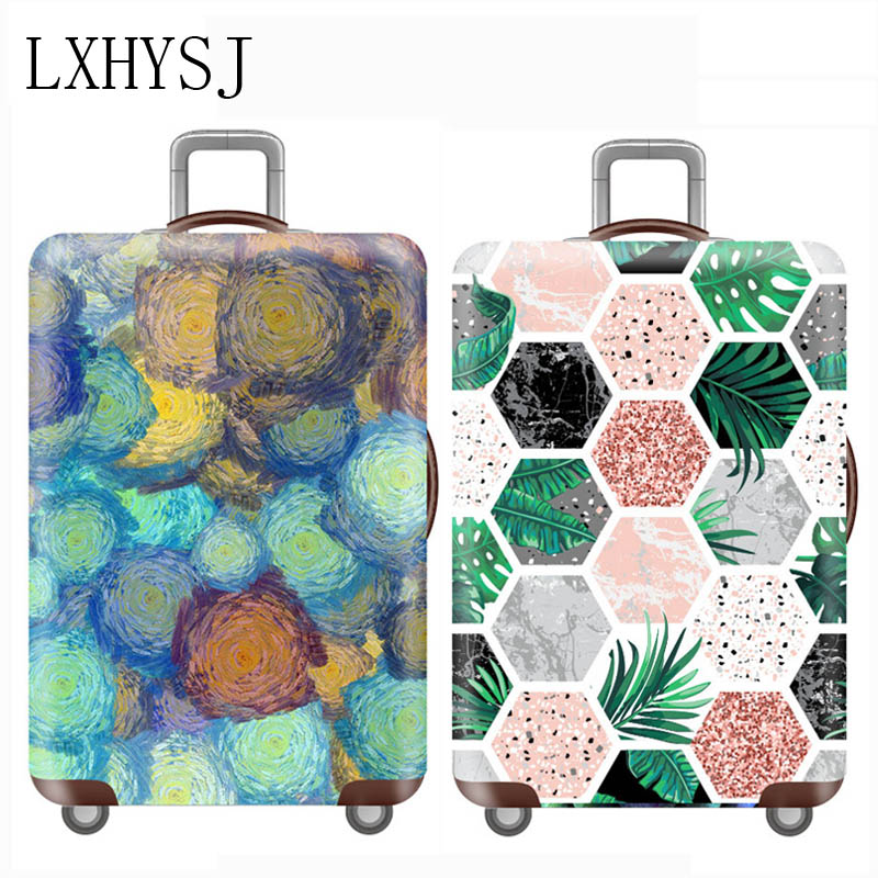Elastic Luggage Protective Cover Case 18-32 Inch Suitcase Protective Cover Cases Covers Trolley Dust Cover Travel Accessories