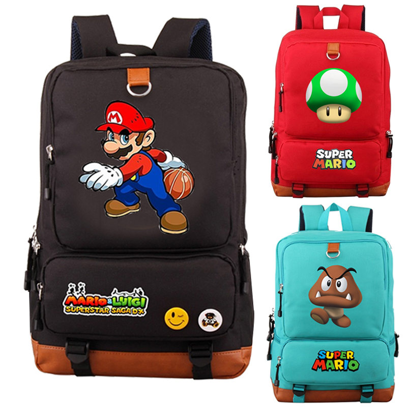 Mochila Super Mario Backpack School Bags For Teenager Girls Boys Galaxy Space Daily Mochila Laptop Backpack Casual Travel Bags