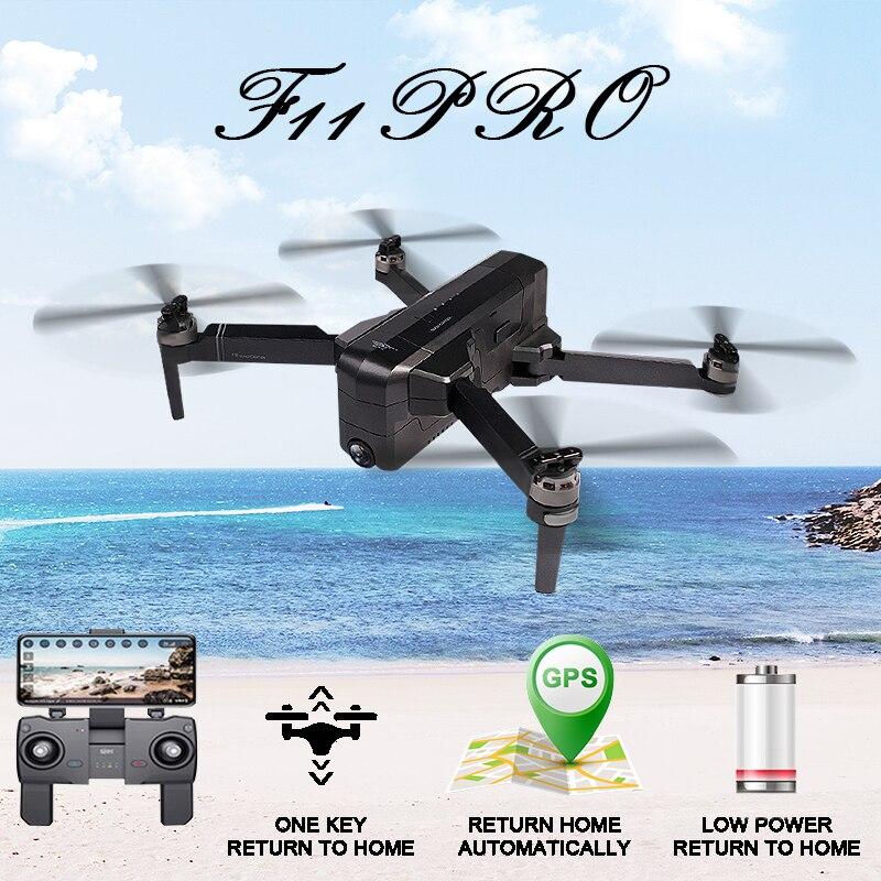 SJRC F11 PRO GPS 5G Wifi 500m K Ampla Ângulo Da Câmera FPV Com 2 28 Minutos de Tempo de Vôo brushless Dobrável RC Drone Quadcopter RTF