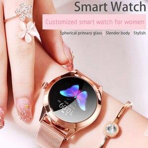 Image 2 - IP68กันน้ำสมาร์ทนาฬิกาผู้หญิงน่ารักสร้อยข้อมือHeart Rate Monitor Sleep Smartwatchเชื่อมต่อIOS Android KW10 Band
