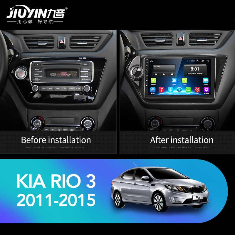 JIUYIN אנדרואיד 8.1 ניווט GPS autoradio לקאיה ריו 3 4 2010 2011 2012 2013 2014 2015 2016 2017 2018 מולטימדיה לרכב נגן