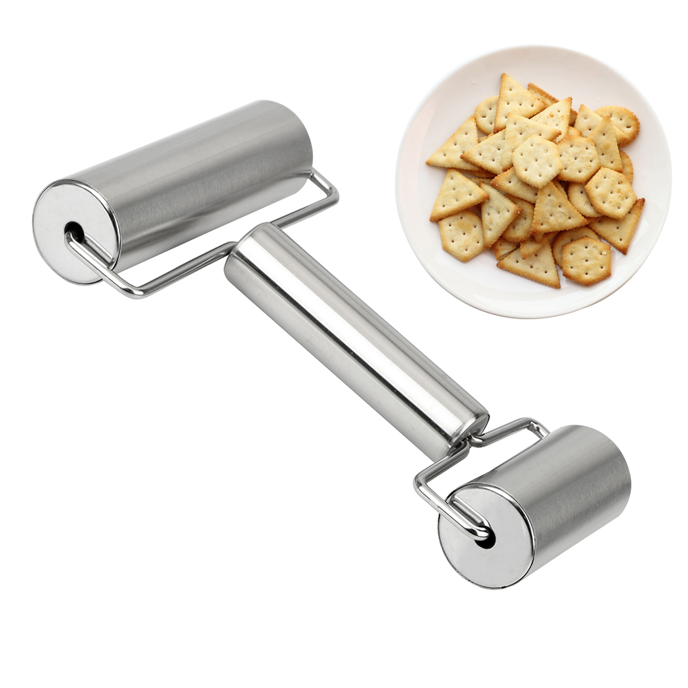 NICEYARD T Shape Stainless Steel Rolling Pin Bakeware Accessories Dumpling Pizza Dough Pastry Roller Cookies Biscuit Baking Tool