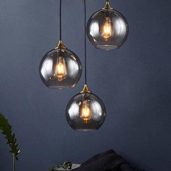 Modern Lustre Glass Pendant Lights Led Hanging Lamps for Living Room Bedroom Pendant Lamp Loft Hang Lamp Suspension Luminairas