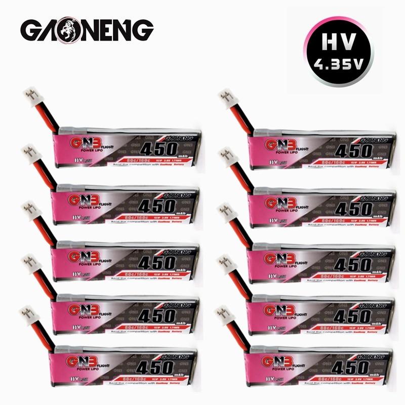Gnb 3.8v 1s 450mah 80c/160c hv 4.35v lipo bateria para fpv que compete o zangão m80s tiny7 beta75s emax tinyhawk snapper7 zangão ph2.0
