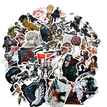 42PCS pack Attack on Titan Sticker Anime Stickers Gifts for Children to Laptop Suitcas Bicycle Car DIY PVC kids