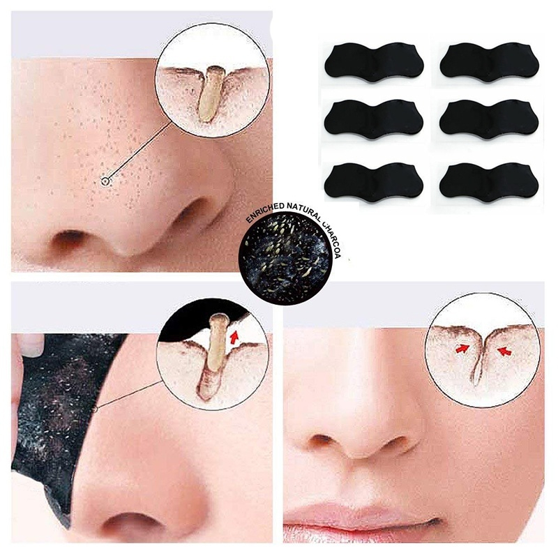 50pcs Nose Blackhead Remover Mask Pore Cleaner Acne Treatment Mask Deep Nose Pore Cleasing Strips Black Head Remover Tool