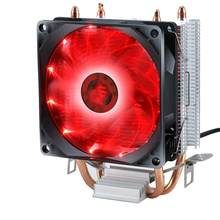 Efficient Cooling Universal CPU Cooler Fan 3pin For Intel LGA 1150 1151 1155 1156 775 I3 I5 I7 AMD AM2 AM3 AM4 quiet air volume(China)