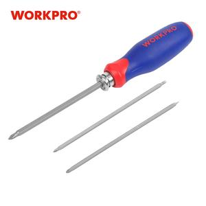 WORKPRO Screwdriver Set 6-in-1 home repair screwdriver bits set torx Hex Slotted Phillips Hex Bits with Telescopic