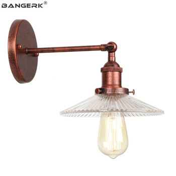 Industrial Loft Wall Light LED Edison Sconces Vintage Wall Lights Glass Lampshade Bedside Wall Lamp Antique Home Decor Lighting